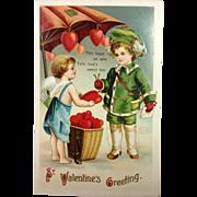 SOLD Signed Clapsaddle Embossed Valentine Unused