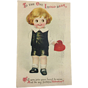 Unsigned Clapsaddle Googly Eyed Valentine