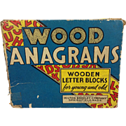 1937 Milton Bradley Wood Anagrams