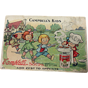 Campbell's Kids Advertising Postcard