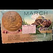1911 Bank Advertising Card Mitchell Publishing