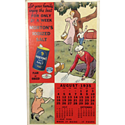 1935 Morton Salt Advertising Calendar