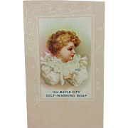 Advertising Card Maple City Soap