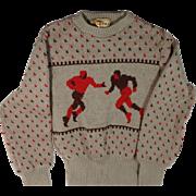 1940s Jersild Wool Football Sweater