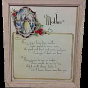 1942 Mother: Framed Tribute