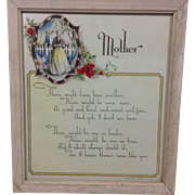1942 Mother: Framed Tribute
