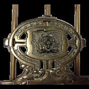 Lion Head Brass Book Rack
