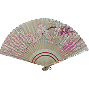 Delicate Hand Painted Oriental Fan