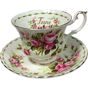 SOLD June Roses Royal Albert Cup / Saucer