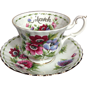 SOLD Royal Albert March English Bone China