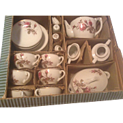 1950s Child's Porcelain Dinner Service For Six JAPAN