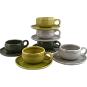 SOLD Russel Wright Steubenville Demitasse 12 Piece Set