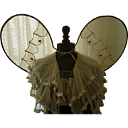 SOLD Large vintage French wired and gauze angel wings used during processions appr. 1920
