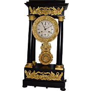 14.Extremely Rare 1700's Antique Portico Calendar Music Box Clock. This is possibly the onl