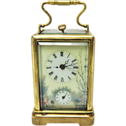 SOLD Beautiful Antique French Made Carriage Clock-Repeater Alarm-Excellent, Fully Working Cond