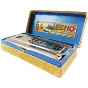 "SOLD German Made M. Honer ""Echo Harp"" G-C Harmonica-Still in Original Box! Excellent"