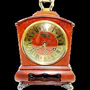 SOLD Antique John Warmink Wuba Dutch German Made Claw Footed Walnut Bracket Clock-Excellent, F