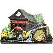 # A22 Beautiful Scenic Vintage Wind Up Display Clock-Excellent Condition-Working Great!