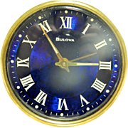 Vintage Bulova Glass and Brass Desk Alarm Clock-Japan. Excellent, Fully Working Condition!