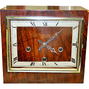 Enfield Wooden Shelf Clock with Square Bezel and Face-Excellent, Fully Working Condition with