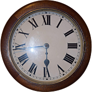 Antique Fusee English Wall Clock MINT Must See
