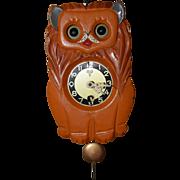 Vintage Movong Eye Lion Pendulette Clock
