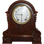 SOLD Antique Seth Thomas Wooden Mantle Clock RARE Movement