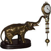 SOLD Antique Junghans Elephant Mystery Swingger Clock