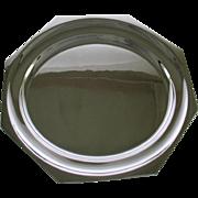 REDUCED Octagonal Round Platter 14 in. Raw Edge