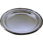 REDUCED Round Platter 14 in. with Bead Pattern, Applied Border