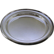 REDUCED Round Platter 16 in. with Bead Pattern, Applied Border