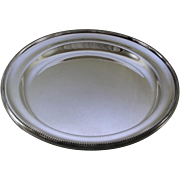 REDUCED Round Platter 18 in. with Bead Pattern, Applied Border