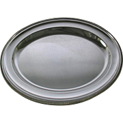 REDUCED Round Platter 12 in. with French Gadroon, Applied Border