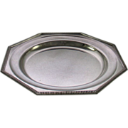 REDUCED Octagonal Round Platter 12 in., Gadroon Mount