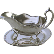 REDUCED Sauce/Gravy Boat & Tray with Jubilee, Patented Applied Border