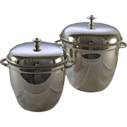 REDUCED Ice Buckets  with Genuine Thermos Double Wall Glass Lining