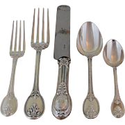 REDUCED Odiot, Paris Wonderful Sterling Silver  5-pc Place-Setting, 07- Grimaldi