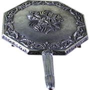 REDUCED Sterling Silver Turkish Hand Mirror wonderfully Chased