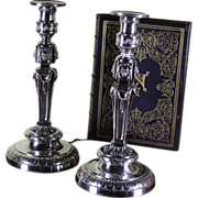 REDUCED Pair of Wonderful Sterling Silver Candlesticks