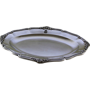 REDUCED Antiques French Hand-Crafted Sterling Platter, Circa 1890