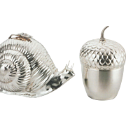 REDUCED Silver Ice Bucket Thermos, Acorn