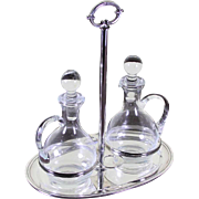 Silver Oil & Vinegar Cruet Set