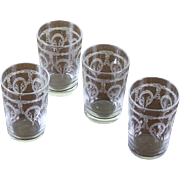 REDUCED Set of 4 Charming Vodka Small Glass