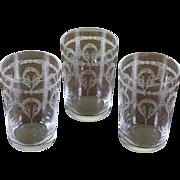REDUCED Set of 3 Charming Vodka Medium Glass