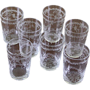 REDUCED Set of  7 Charming Vodka Small Glass