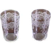 REDUCED Set of 2 Charming Liquor Large Glass