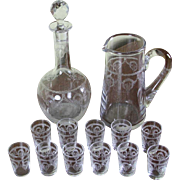 REDUCED Charming Vodka Set Decanter, Jug & 11 Vodka Tiny Glass