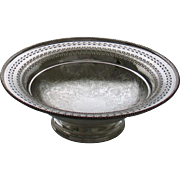 REDUCED Fruit/Cake Dish, Pierced Border, Embossed