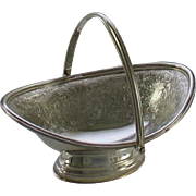 REDUCED Small Oval Basket Embossed