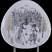 REDUCED Wonderful Wall or Cabinet Plate, Peynet Design by Rosenthal
